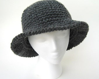 Hat Crochet Pattern One Skein project- Gorgeous Ribbed- PDF file Permission to Sell what you make- p101