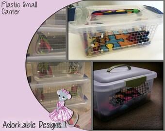 Small Animal Rat Carrier - Hard Plastic Carrier -