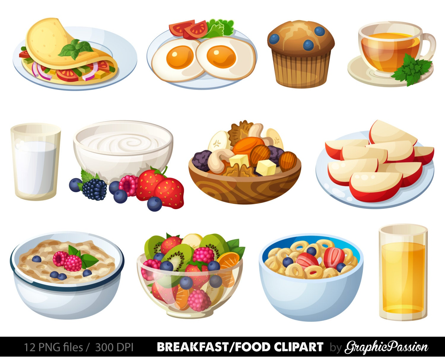 breakfast clipart food clipart dessert clipart food clip art rh etsy com food clipart images food clipart pictures