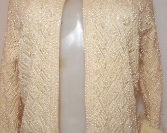 FREE  SHIPPING   Vintage Sequin Fur Sweater