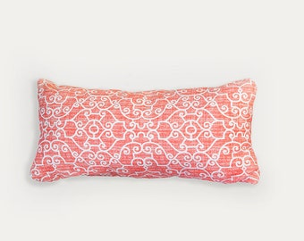 Coral Bolster Pillow, Orange, Outdoor Pillow, Outdoor Bolster, Pillow, Orange Pillow, Outdoor Pillows Coral, Coral Pillow, Bolster Pillow