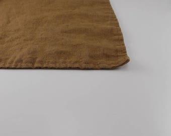 Handmade Linen Bath Mat / Bath Rug --- Copper