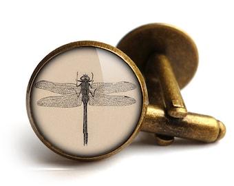 Vintage Dragonfly Cufflinks (ER03)
