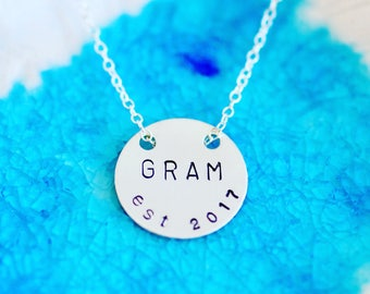 Grandma Necklace - Silve Mom Gift - Mom Necklace - Mom Necklace - New Grandma Gift - Mommy Necklace - Gifts For Grandma - Mothers Day -