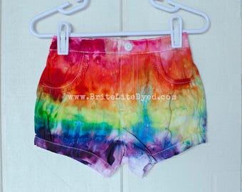 18 MONTHS Tie Dye Baby Girl Shorts - Cotton Shorts - Kids Shorts - Tye Dye Infant Shorts - Bubble Shorts - Tie Dye - Tye Dye - Rainbow