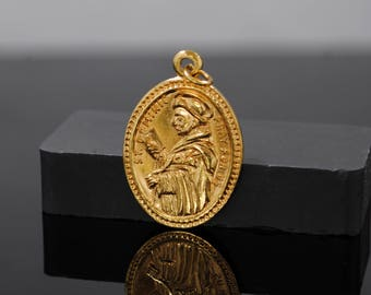 Vintage 1950's Infant of Prague Shrine St. Dominic Dominican New Haven Pendant