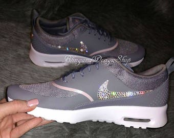 Swarovski Bling Nike Air Max Thea Women's Nike Shoes custom with Crystal Swarovski Rhinestones
