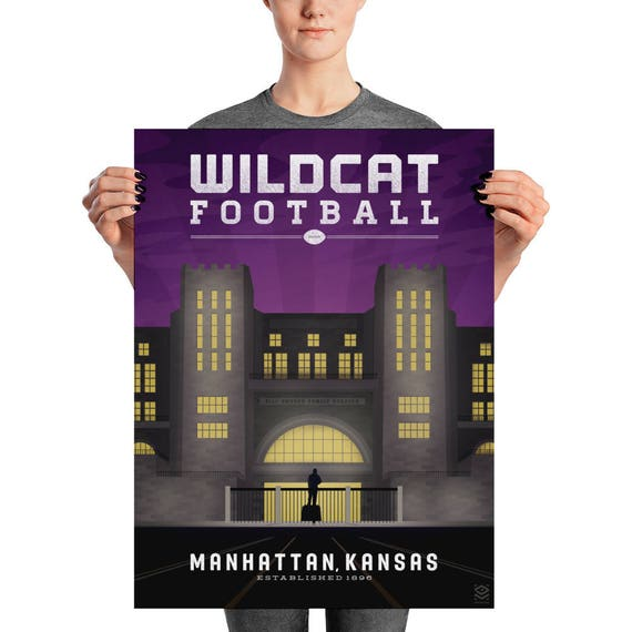 Wildcat Football Matte Litho Print