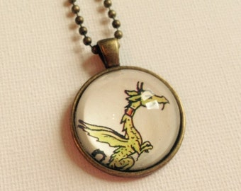 Upcycled Rupert Annual Dragon Pendant