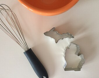 Michigan Cookie Cutter | Lower Peninsula Cookie Cutter Upper Peninsula | Michigan Upper & Lower Peninsula Cookie Cutter Set | Holiday Baking