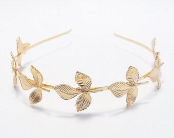 Gold Leaf Headband Hair Accessories