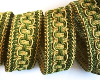 "Decorative trim by yard  - 1 1/2"" 4cm trim - vintage Passementerie - French ribbon - upholstery trimming - ornamental edging - sewing supply"