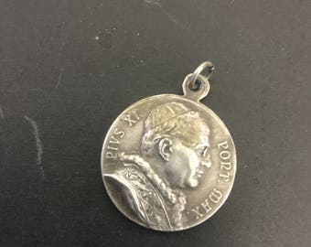 Silver Catholic Medal (Pope ) beautiful detail