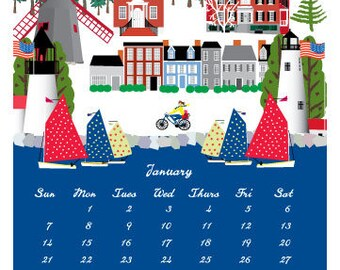 2018 Nantucket Wall Calendar
