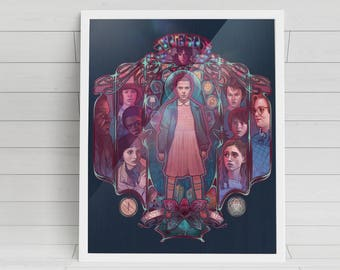 """Friends Don't Lie - 'Stranger Things' signed poster - 11""""x14"""""""