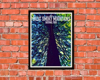 Great Smoky Mountains National Park - Giant Tree - Print Poster Artwork