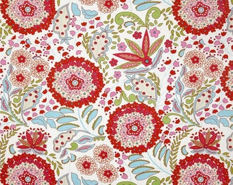 Sale, By the Yard, Lantana Red, Little Azalea Collection by Dena Designs, Free Spirit Fabrics Collection, Cotton Quilt Fabric