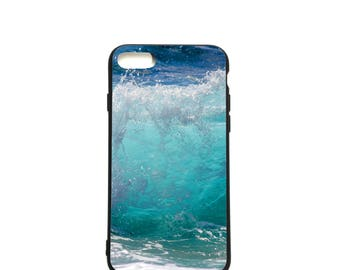Beach iPhone 7 case Aqua Blue iPhone 6 case Sea Surfer lover Gift Soft case iPhone Birthday gift for him gift for her Gift for beach lovers
