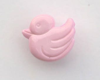 Duck 14 mm x 6 buttons: pink - 001650