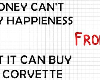 Funny Shirt Corvette Owners