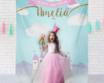 Princess Birthday Backdrop, Princess Ideas, Castle Princess Party, Fairytale Princess Backdrop, Princess Photo Booth // N-T19-TP REG1 AA3