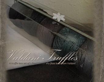 "Valdani Thread: Gift Set/5 Perle Cotton Embroidery Thread Balls - ""Winter Evening"" Collection"