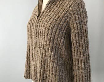 Vintage Chunky Cabled Sweater Petite Medium