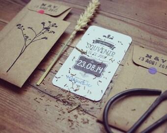 Cadeaux d'invités Mariage - Enveloppes graines