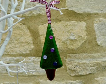 Christmas tree - Fused glass Christmas decoration - Christmas ornament - Fused glass christmas tree - tree decoration