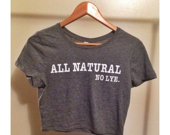 All Natural No Lye Crop Top (xs/s)