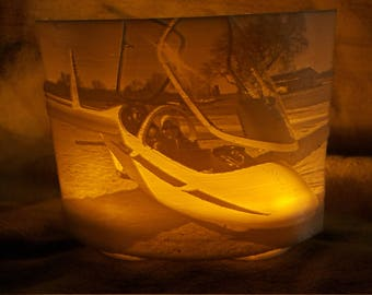 Personalized LED Tealight Shade Lithophane made from your photo