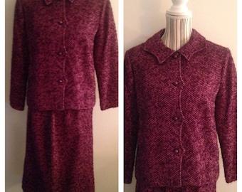 Stunning Purple Ladies Vintage Suit