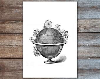 Globus mit Fahrräder, um die Weltkunst, Haushaltswaren Wand Dekor Wand hängen