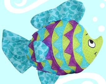 FINNY the Ribbon Fish Pillow/Plush - Pattern