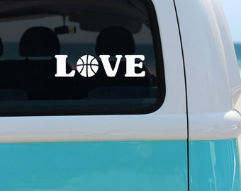 Basketball Love Vinyl Window Decal - Car Decal - Basketball Love - Basketball Car Decal - Basketball Player - Sports Decals - Basketball