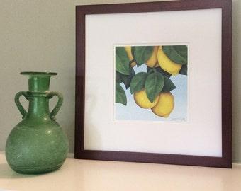 Lemons Signed Archival Print from Original Watercolor