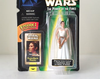 Princess Leia Star Wars Action Figure, Vintage Star Wars Kids Gift for Girls, Carrie Fisher A New Hope Episdoe IV