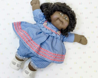1985 African American Cabbage Patch Doll, 80s Girl Toy, Doll Gift for Daughter, Cabbage Patch Kids Gift, CPK Doll for Girl, Collectible Doll
