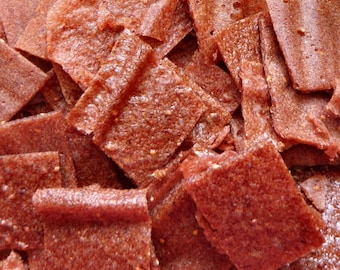 Strawberry Banana Fruit Leather Bites - 2 oz. - GREAT for you AND your dog