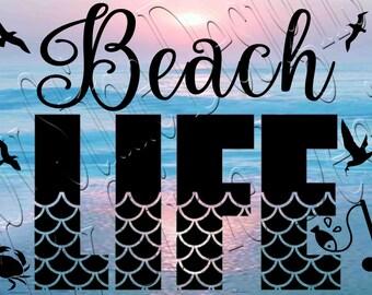 Beach Life   SVG, PNG, JPEG