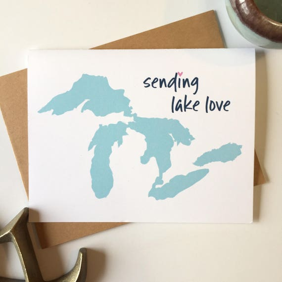 Great lakes state great lakes gift michigan greeting card great lakes state great lakes gift michigan greeting card michigan gift michigan greeting michigan stationary michigan notecard set m4hsunfo Images