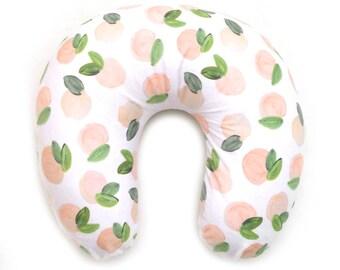 Nursing Pillow Cover Sweet Peach. Nursing Pillow. Nursing Pillow Cover. Peaches Nursing Pillow Cover.