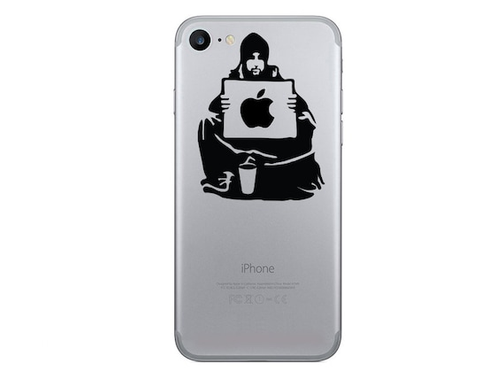 Items similar to banksy iphone 6 decals keep your coins iphone 7 plus sticker i want change art vinyl decals iphone 7 stickers banksy silhouette