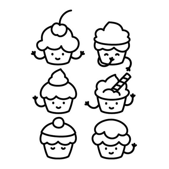 Artículos similares a Cupcakes para colorear en Etsy