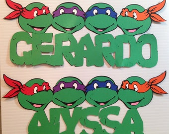 TMNT personalized names, Teenage Mutant Ninja Turtle names