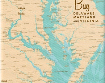 Chesapeake bay map Etsy