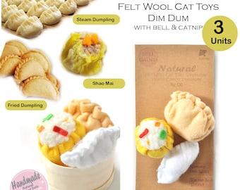 BALLMIE Cat Toy Bells Felt Wool Chinese Dim Sum, Handmade cat toys ferret toys with catnip & bell
