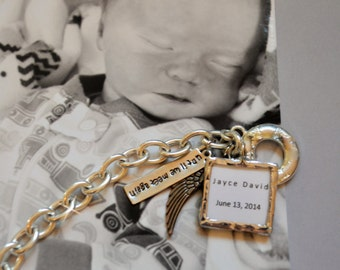 Loss of Infant, Loss of Child, Infant Loss, Baby Loss, Child Memorial, Memorial Gift, Death of a Loved One, Death of a Child, Soldered Charm