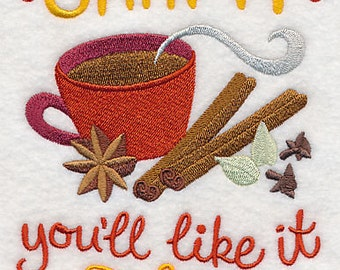 Chai It You'll Like It Embroidered Flour Sack Hand/Dish Towel