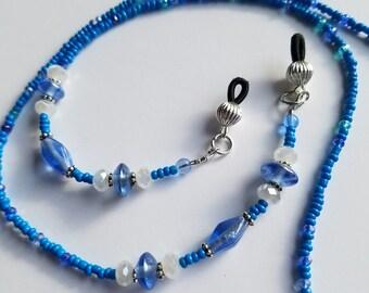 Sparkly Blue Eyeglass Lanyard
